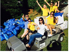 A Group in Yellow Shirts on a Golf Cart, Vehicle Wraps in Vancouver